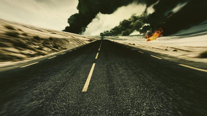 A screenshot of a desert from a video game.