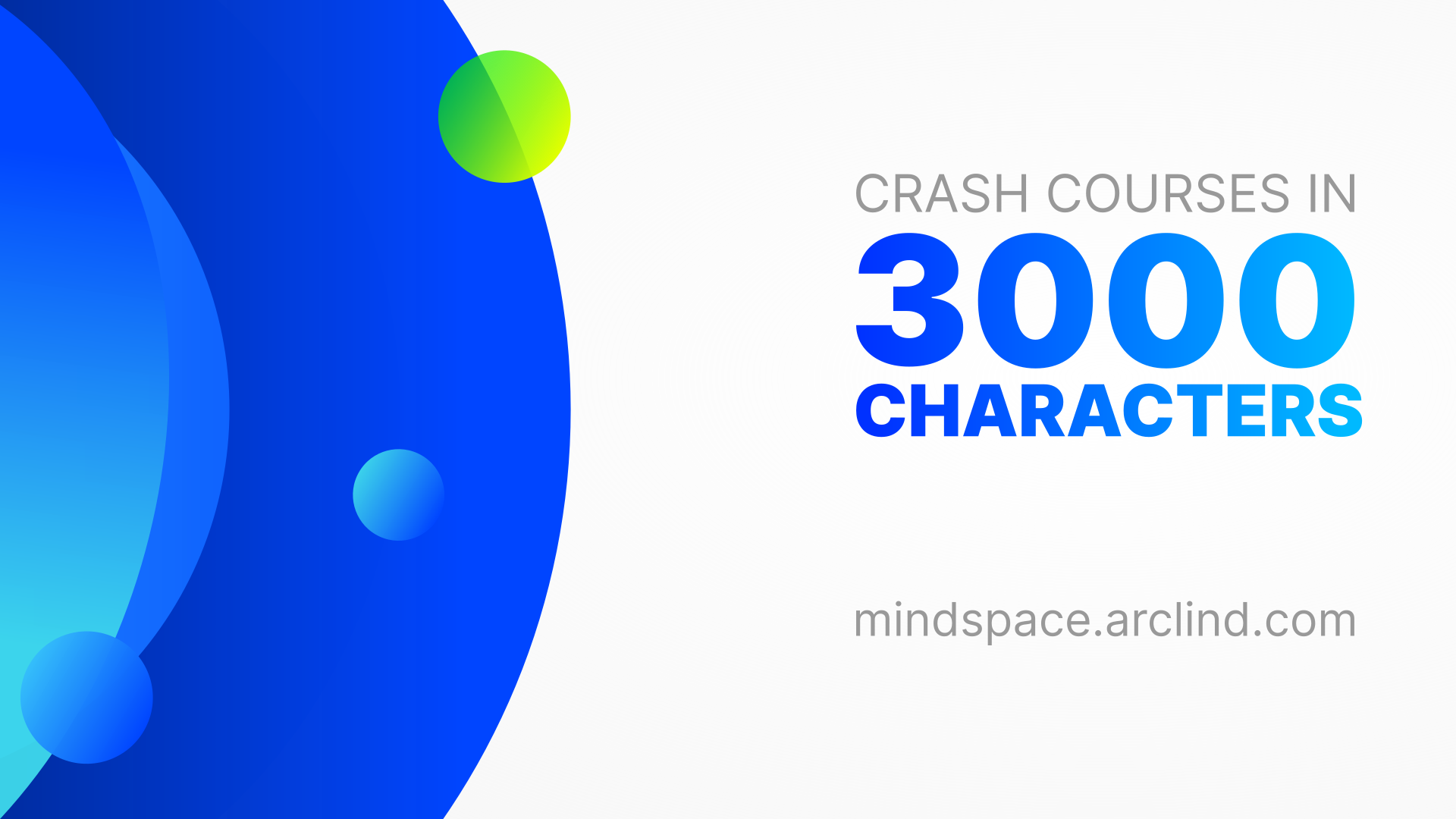 3000 character limit of all Arclind crash courses as an illustration with the elemental design concept.