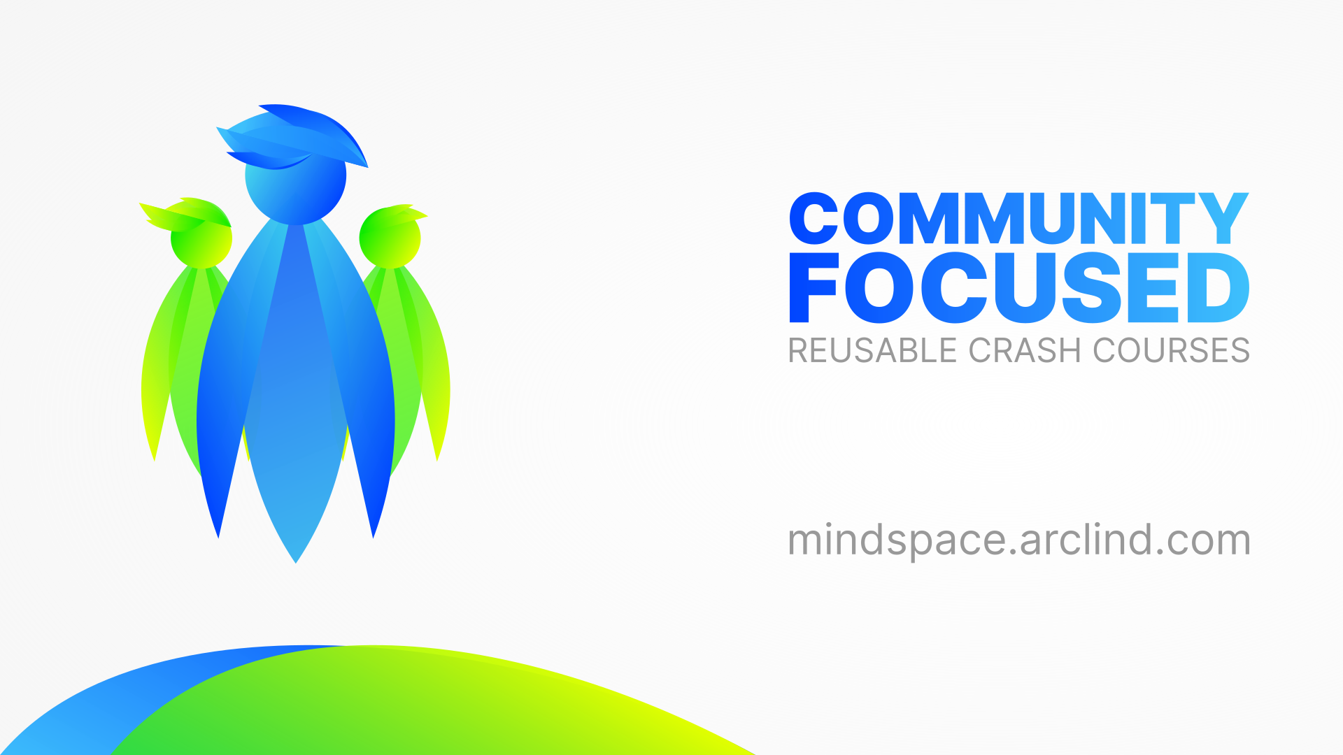 An illustration depicting community focus of Arclind Mindspace free crash courses.